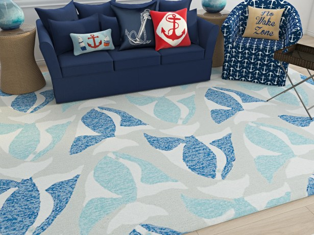 Sereno Traditional Handmade Rectangle Blue Indoor / Outdoor Area Rug Rug Size: Rectangle 3' x 5'