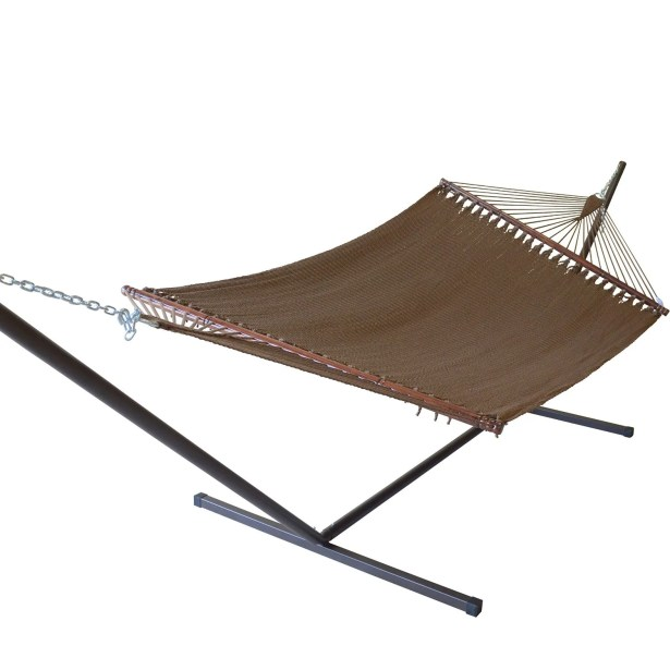 Caribbean Double Hammock with Stand Color: Mocha