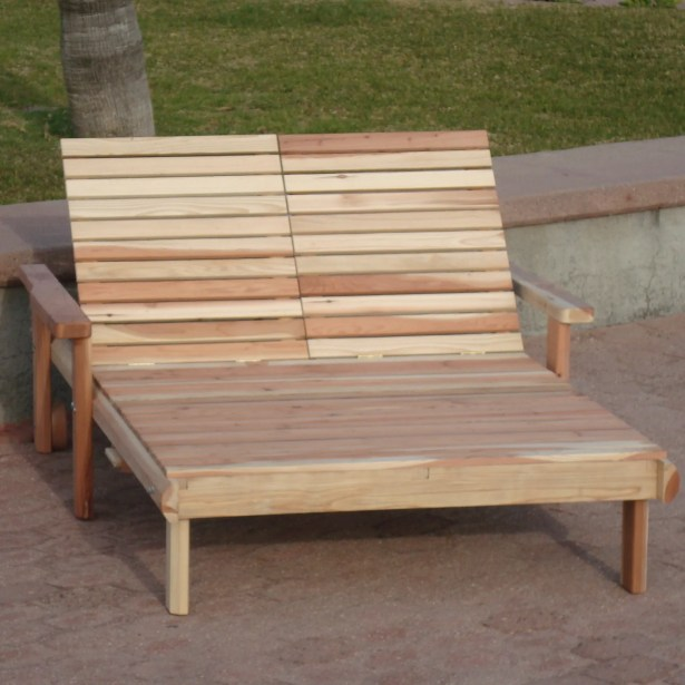 Henry Rustic Beach Double Chaise Lounge Finish: Mahogany