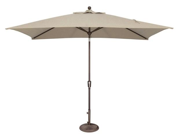 Catalina 10' X 6.5' Rectangular Market Umbrella Fabric Color: Bronze w/ Tuscan