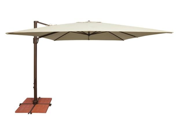 Bali 10' Square Cantilever Umbrella Fabric: Sunbrella / Antique Beige