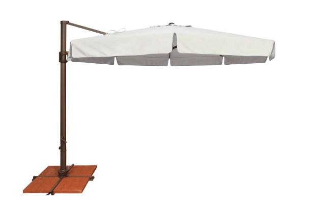 Bali 11' Cantilever Umbrella Fabric: Sunbrella / Natural