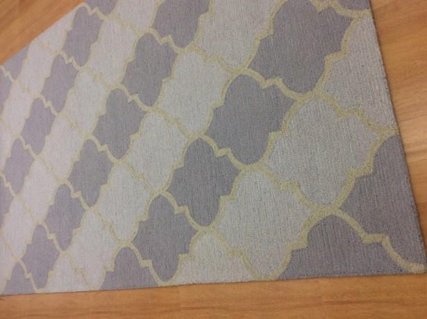 Wool Hand-Tufted Ivory/Purple Area Rug