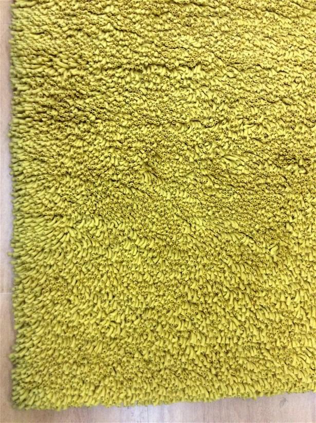 Shag Eyeball Woolen Mustard Hand Knotted Yellow Area Rug Rug Size: Round 6'