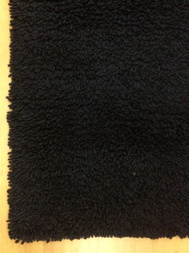 Shag Eyeball Woolen Hand Knotted Charcoal Black Area Rug Rug Size: Rectangle 5' x 8'