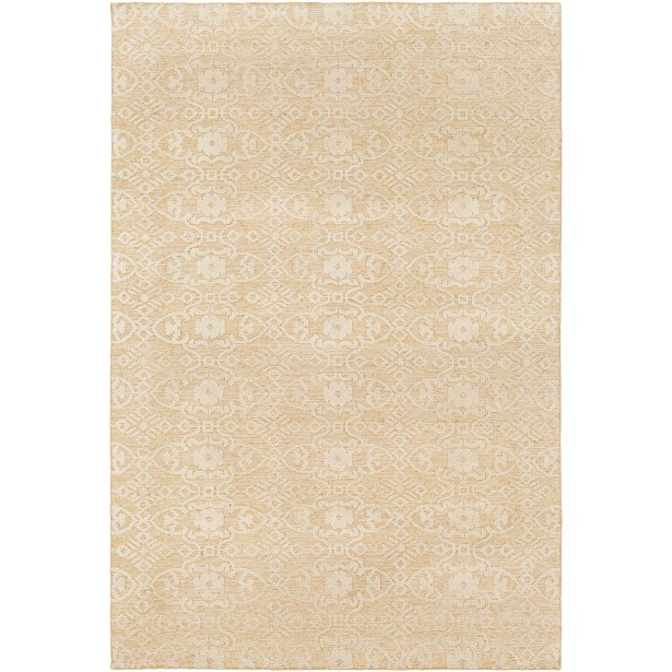 Eramana Hand Knotted Beige Area Rug Rug Size: Rectangle 2' x 3'