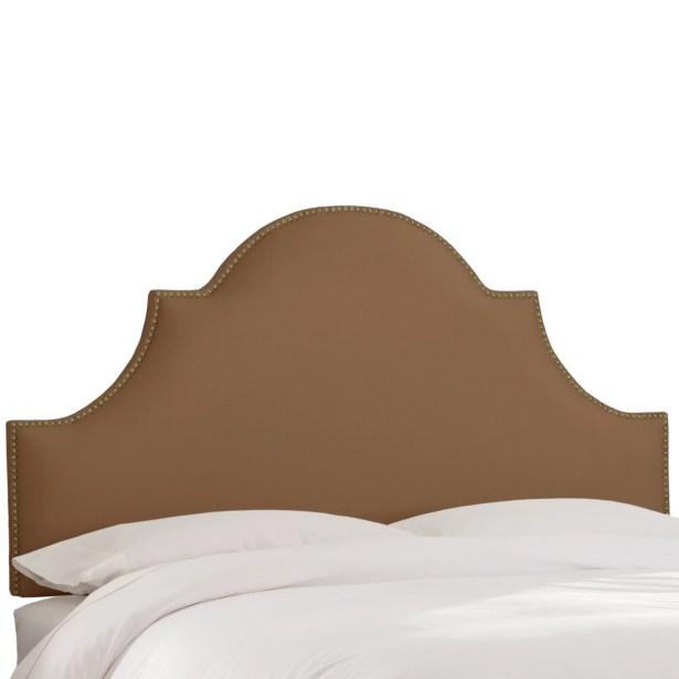 Delaware Upholstered Panel Headboard Upholstery Color: Khaki, Size: King