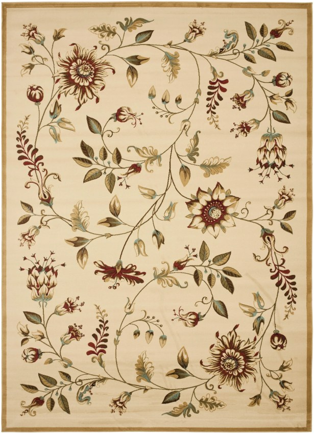 Taufner Ivory Area Rug Rug Size: Rectangle 8' x 11'