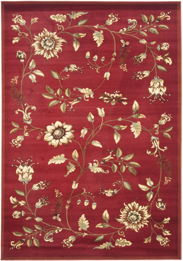 Taufner Red Area Rug Rug Size: Rectangle 8'9