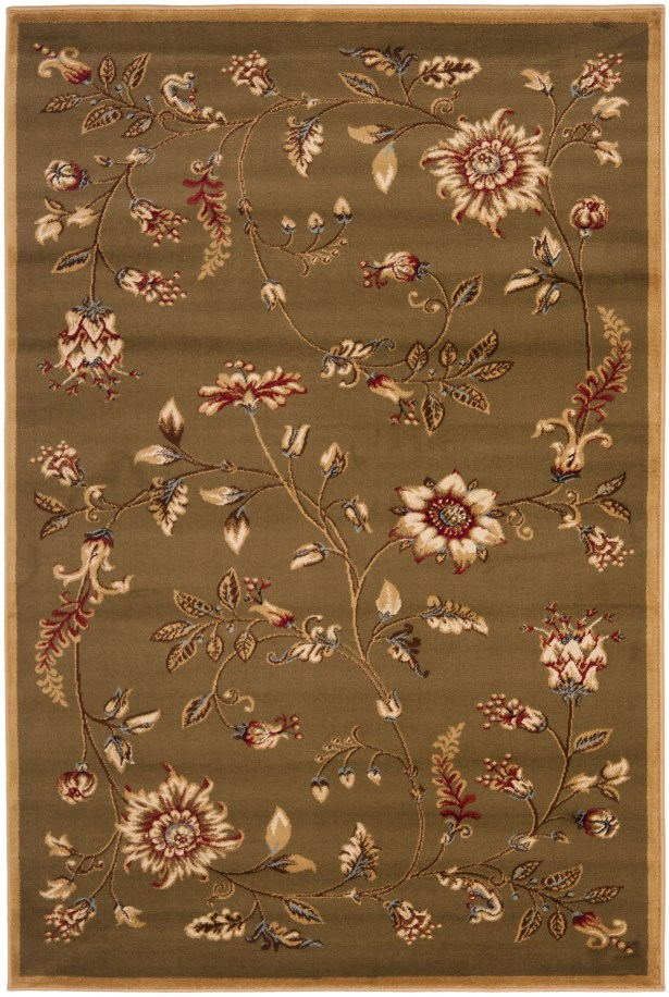 Taufner Green Area Rug Rug Size: Rectangle 4' x 6'