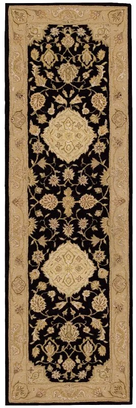 Lundeen Black/Gray Floral Area Rug Rug Size: Runner 2'6