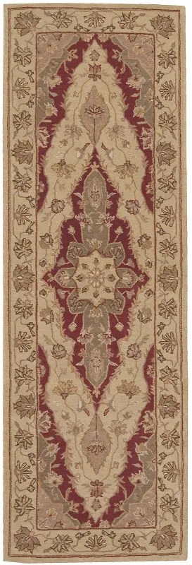 Lundeen Brown/Tan Floral Area Rug Rug Size: Runner 2'6