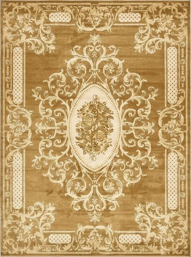 Blevins Gold Area Rug Rug Size: Rectangle 8' x 10'