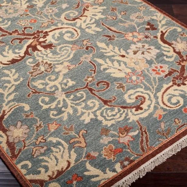 Mathilda Blue/Brown Rug Rug Size: Rectangle 9' x 12'