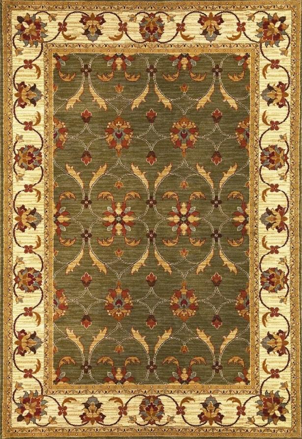 Antwerp Green/Ivory Agra Rug Rug Size: Rectangle 5'3