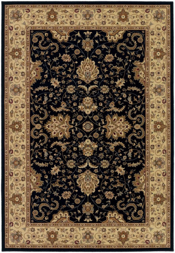 Belcourt Floral Black Area Rug Rug Size: Rectangle 9'2