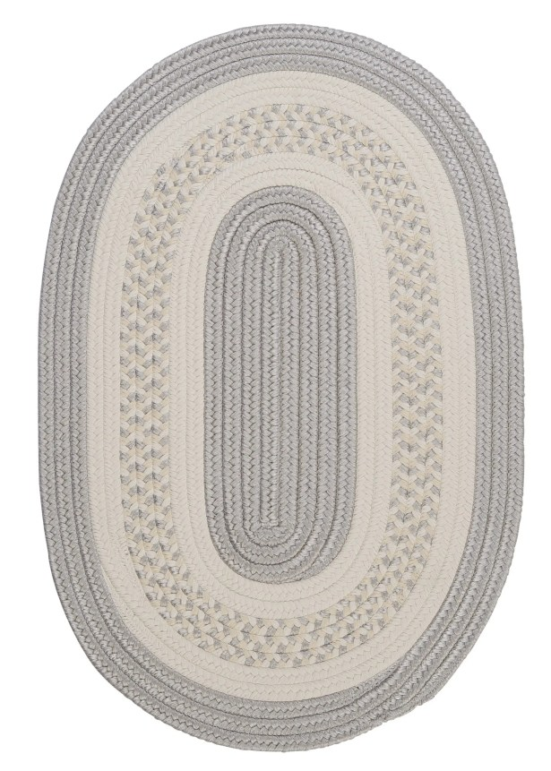 Rockport Silver Indoor/Outdoor Area Rug Rug Size: Oval 3' x 5'