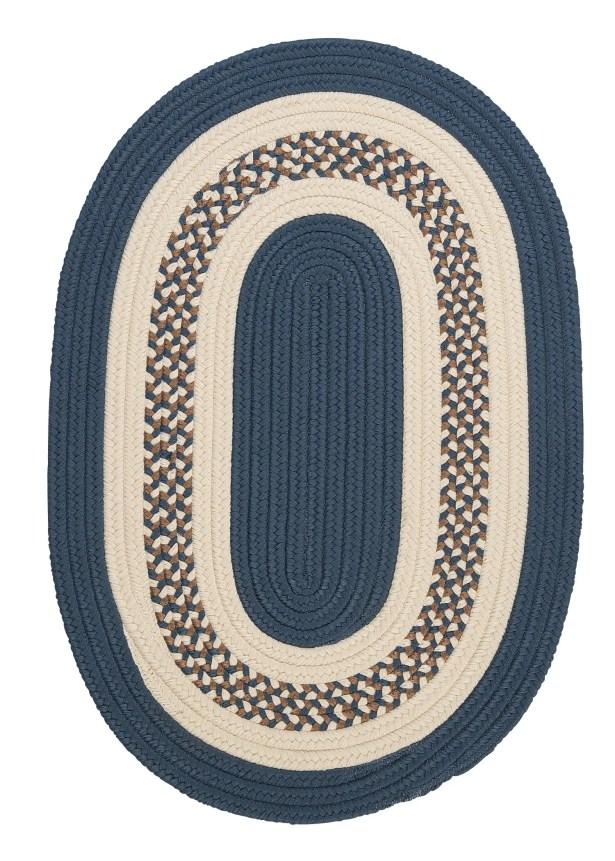 Rockport Lake Blue Indoor/Outdoor Rug Rug Size: Oval 4' x 6'