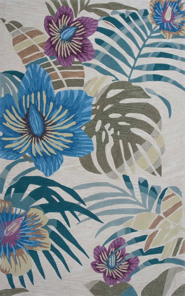 Roselawn Sand Palm Area Rug Rug Size: Rectangle 3'3