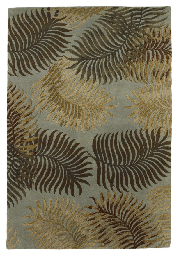 Delview Fern View Aqua Plants Area Rug Rug Size: Rectangle 2'6