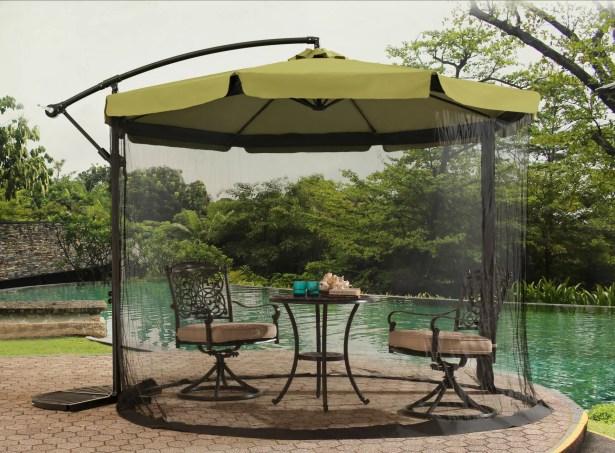 Anthea 10' Cantilever Umbrella Fabric Color: Green