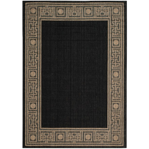 Amaryllis Black/Coffee Indoor/Outdoor Rug Rug Size: Rectangle 5'3