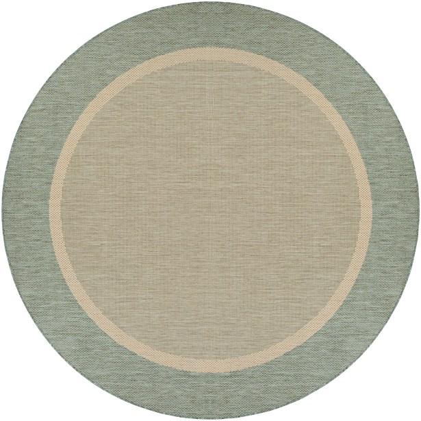 Linden Texture Green/Beige Indoor/Outdoor Area Rug Rug Size: Round 8'6