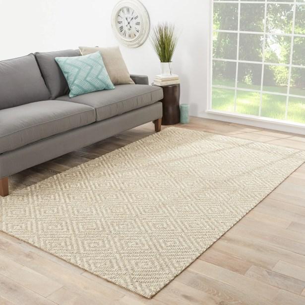 Raposa Hand-Woven Brown/White Area Rug Rug Size: Rectangle 5' x 8'
