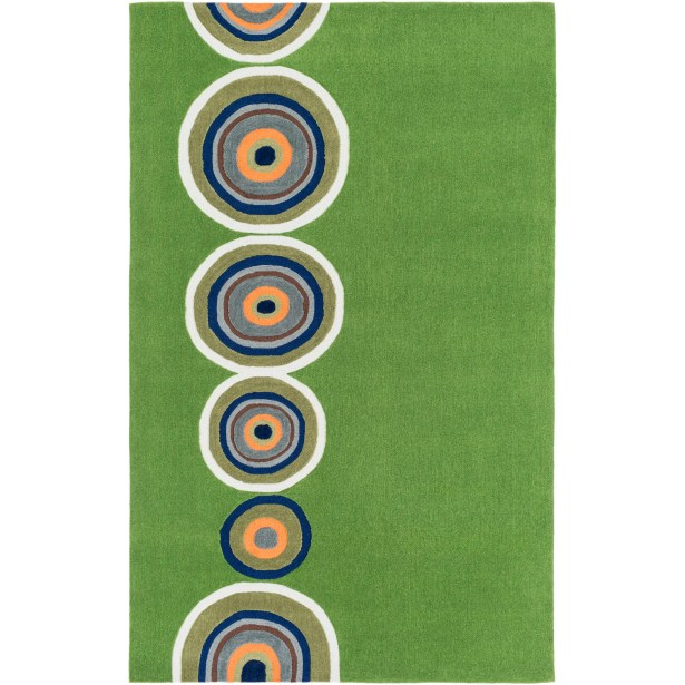 Cesar Hand-Tufted Glass Green Area Rug Rug Size: Rectangle 7'6