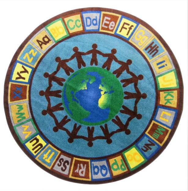 Harwich Earth Tone Alpha World Blue/Green Area Rug