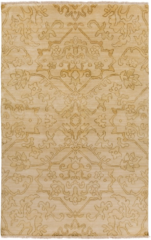 San Michele Hand-Knotted Beige Area Rug Rug Size: Rectangle 3'6
