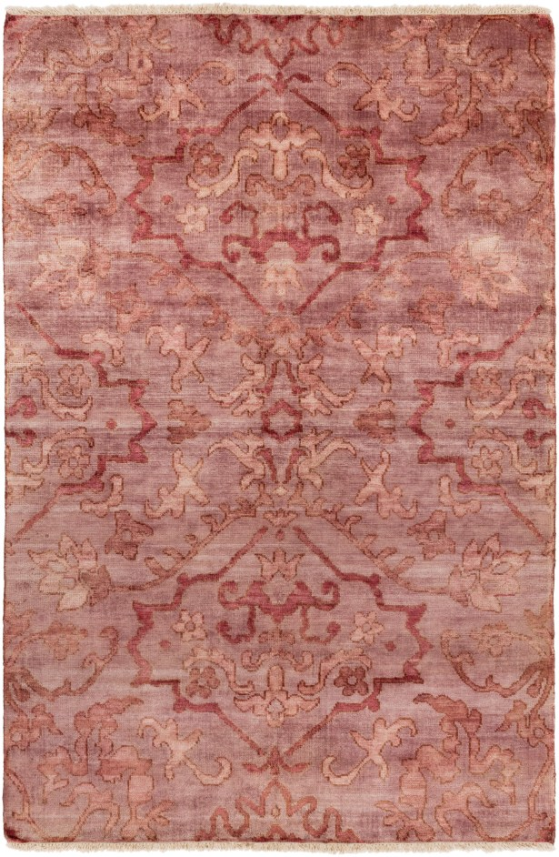 San Michele Hand-Knotted Pink Area Rug Rug Size: Rectangle 8' x 11'