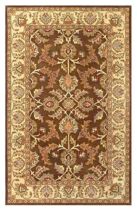 Balthrop Brown/Ivory Rug Rug Size: Rectangle 8' x 10'