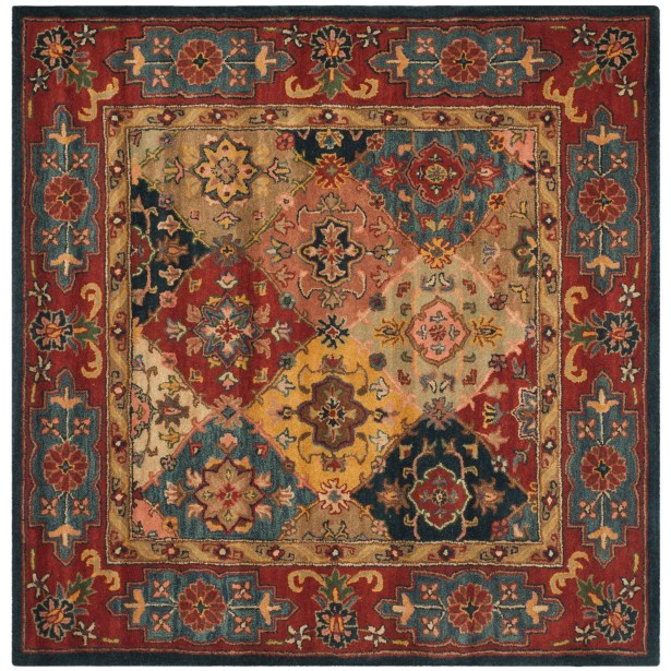 Balthrop Red Area Rug Rug Size: Square 10'