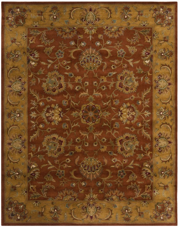Balthrop Brown/Yellow/Brick Red Area Rug Rug Size: Rectangle 10' x 14'