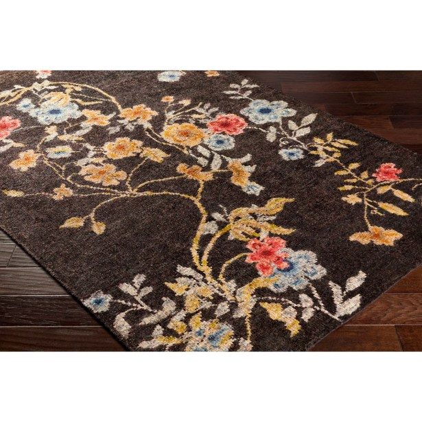 Pippin Hand-Knotted Brown/Blue Area Rug Rug Size: Rectangle 6' x 9'