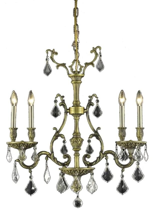 Almont 4-Light Crystal Chandelier Color / Crystal Color / Crystal Trim: Antique Bronze / Champagne / Royal Cut