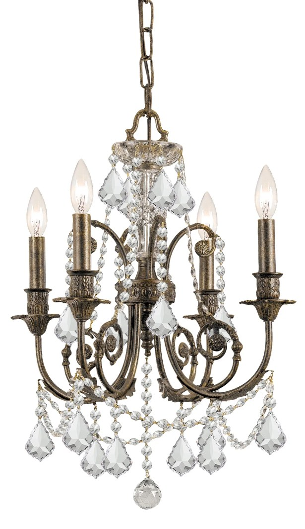 Markenfield 4-Light Candle Style Chandelier Crystal Type: Clear Swarovski Spectra