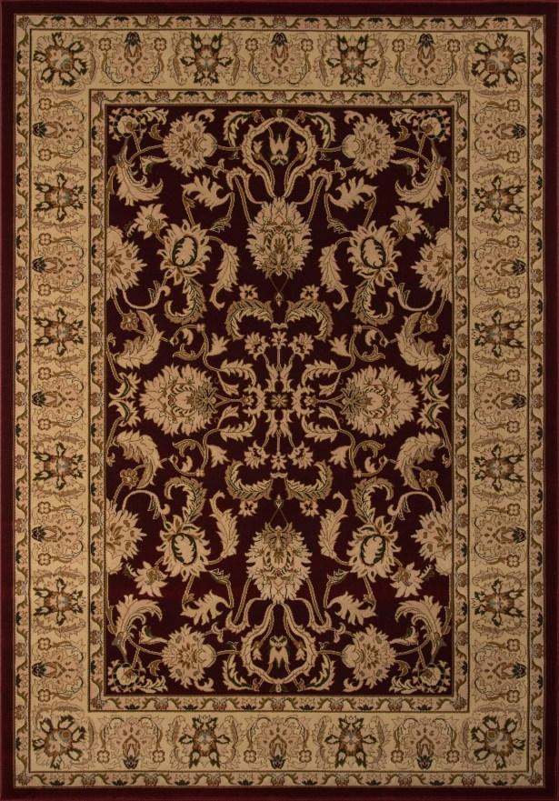 Mira Monte Burgundy/Tan Area Rug Rug Size: Rectangle 7'10