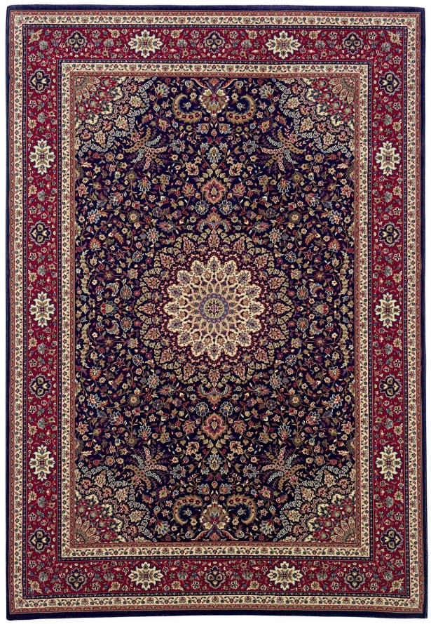 Shelburne Traditional Brown/Red Area Rug Rug Size: Rectangle 7'10