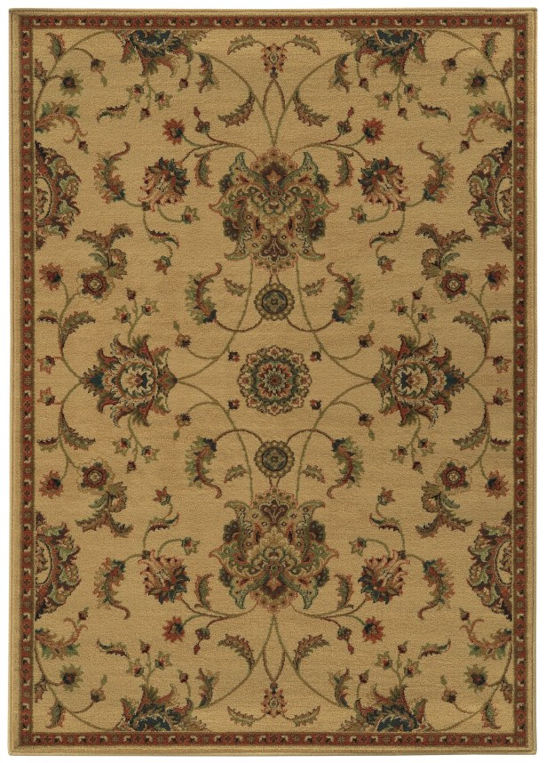 Bovill Beige/Green Area Rug Rug Size: Rectangle 7'10
