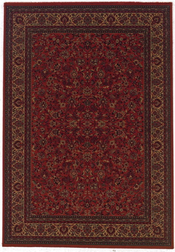 Chivers Yellow/Crimson Area Rug Rug Size: Rectangle 7'10