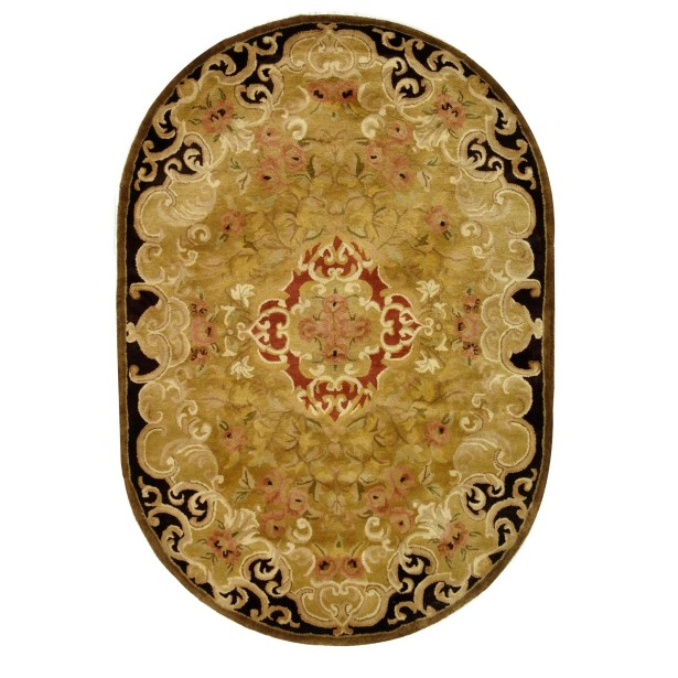 Carnasheeran Gold/Cola Rug Rug Size: Oval 7'6