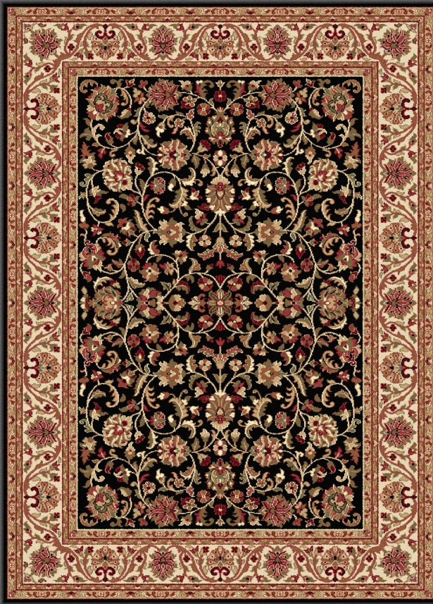 Clarence Black/Brown Area Rug Rug Size: 10'6'' x 14'6''