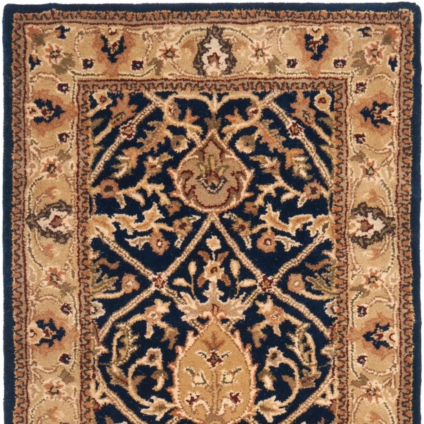 Empress Hand-Tufted Wool Brown Area Rug Rug Size: Round 6'