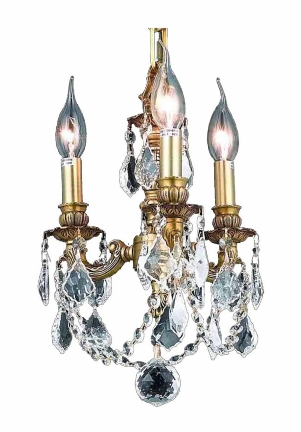 Downes 3-Light Candle Style Chandelier Color / Crystal Color / Crystal Trim: French Gold / Crystal (Clear) / Spectra Swarovski
