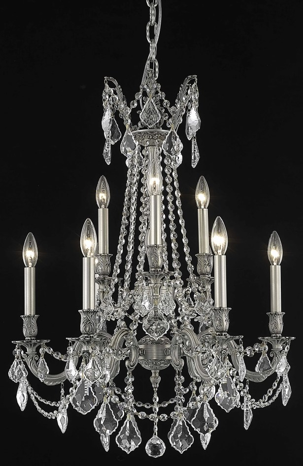Utica 9-Light Chandelier Crystal Color / Crystal Trim: Golden Teak (Smoky) / Royal Cut