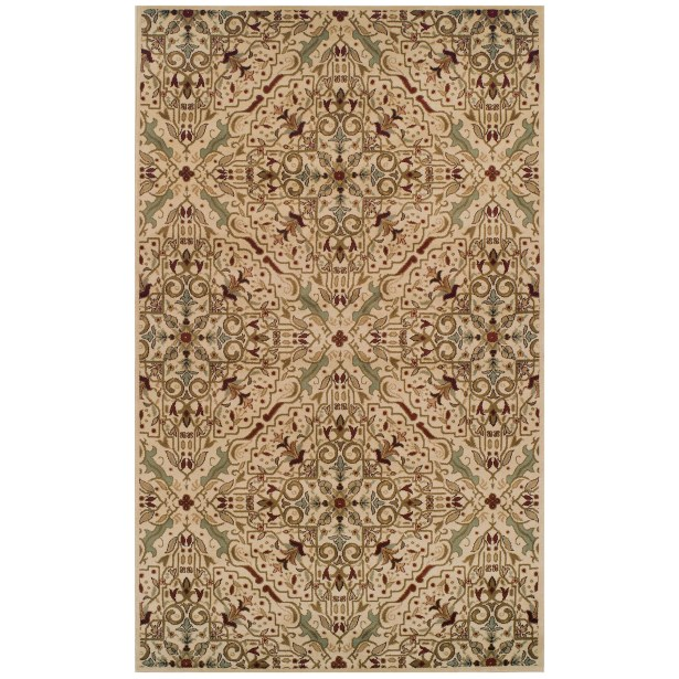 Bayliff Cream/Red Area Rug Rug Size: Rectangle 8' x 10'