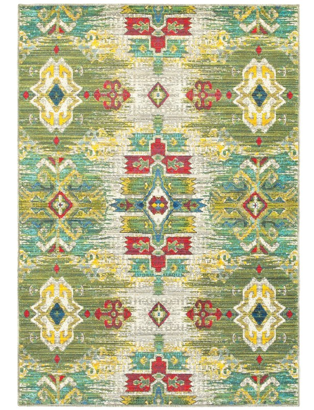 Saige Yellow/Green/Red Area Rug Rug Size: Runner 2'3