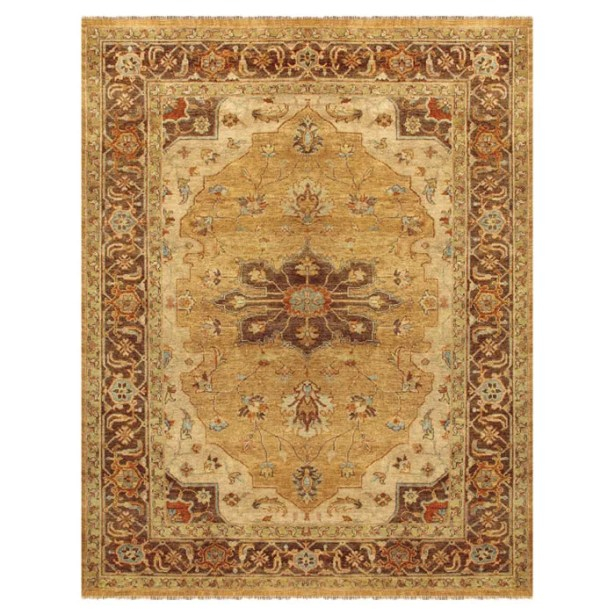 Clignancourt Gold/Brown Area Rug Rug Size: Rectangle 7'9